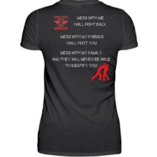 MESS WITH ME... - Damen Premiumshirt-16