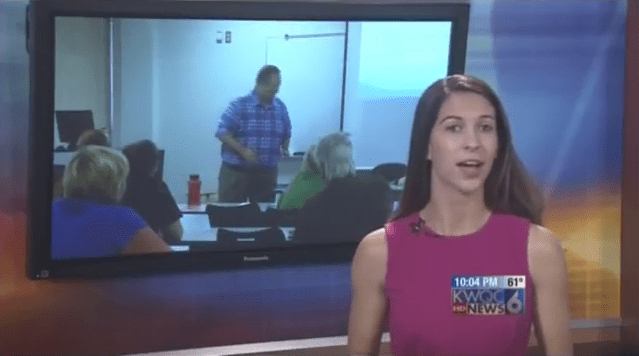 Screenshot of KWQC TV 6 News story on Substitute teacher authorization classes
