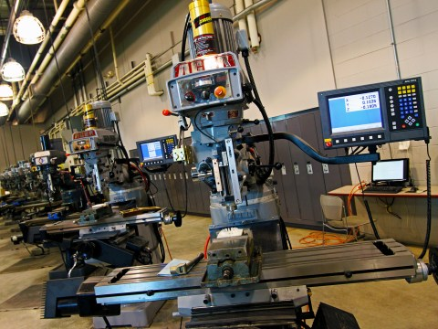 CNC Machine at the Blong Technology Center