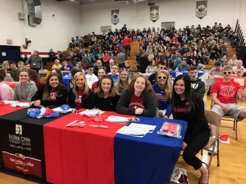 Future CCC students at Camanche High School College signing event