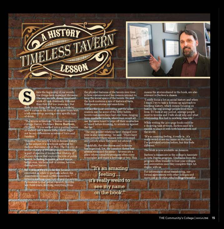 Timeless Tavern Story Magazine layout