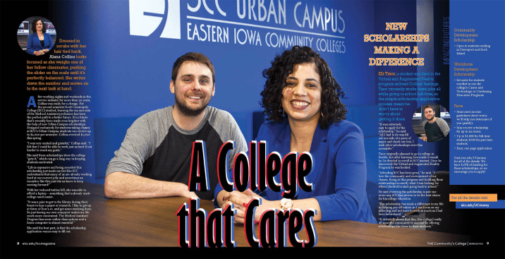 College that cares magazine layout