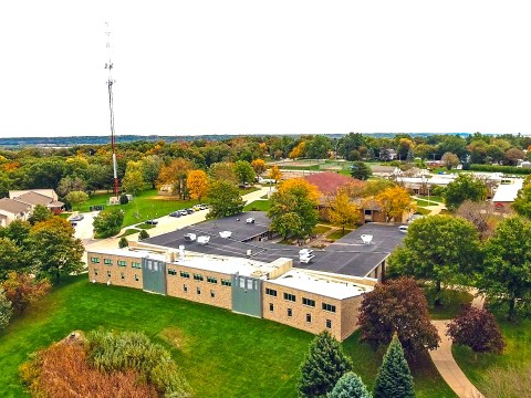 Arial view of MCC Campus