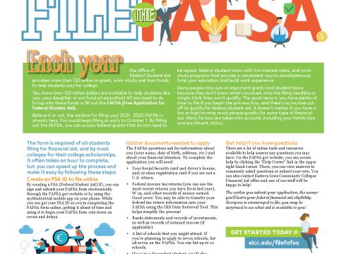 File the FAFSA Magazine Layout