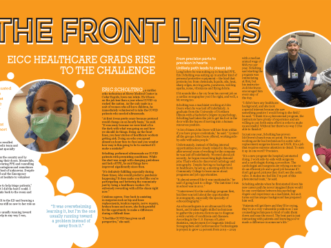 On the Front Lines Magazine Layout