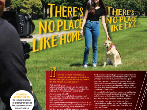 There's No Place Like Home Magazine Layout