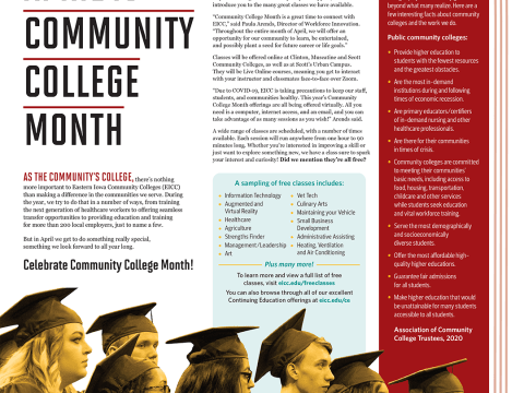 April is Community College Month Magazine Layout