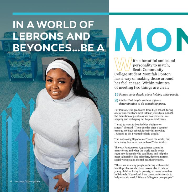 Monifah Magazine Article Layout