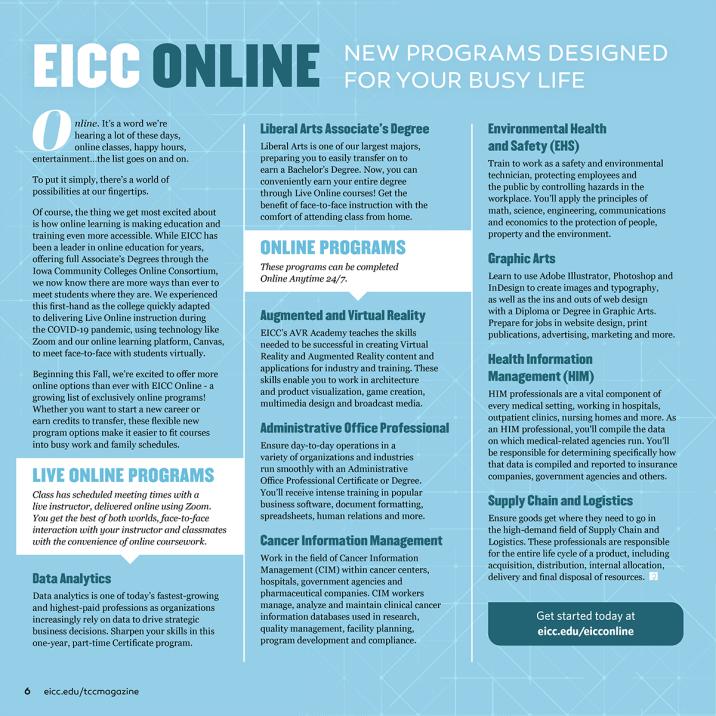 EICC Online Magazine Layout