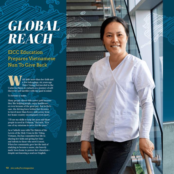 Global Reach Magazine Layout