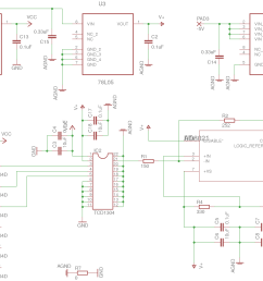 if i were to redo it i would substitute the 78l05 and 79l05 voltage regulators u3 4 and u2 with ldos lt1761 and with lt1964  [ 2738 x 1659 Pixel ]