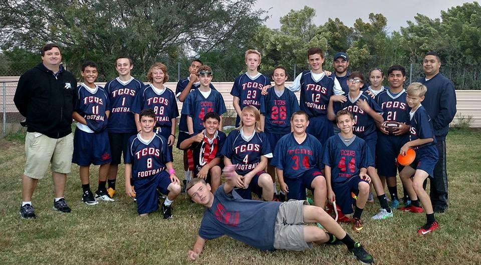 TCDS Flag football team