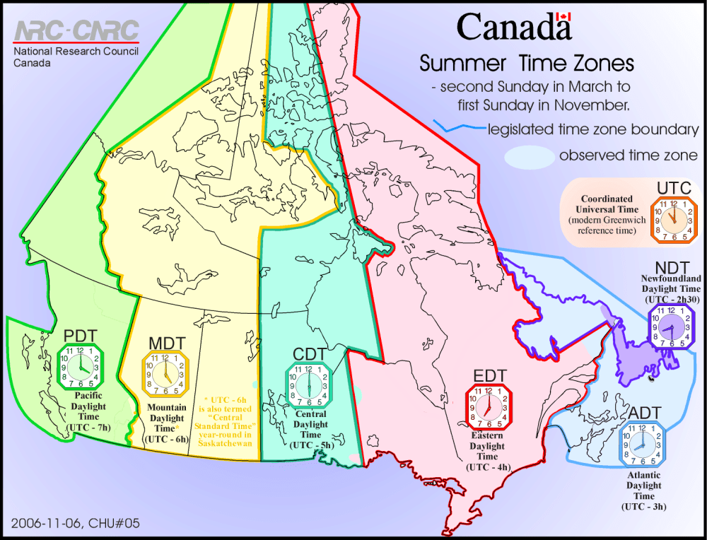 medium resolution of Time Zones in Canada   The Canadian Encyclopedia