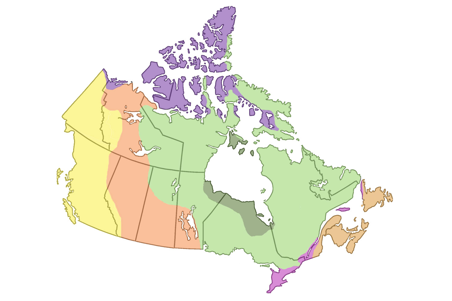 hight resolution of Physiographic Regions   The Canadian Encyclopedia