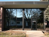 Glass work done by Tri-County Glass Inc.   Jensen Memorial Library - Minden, NE