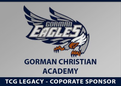 TCG Legacy announces Corporate Sponsorship for The Gorman Christian Academy