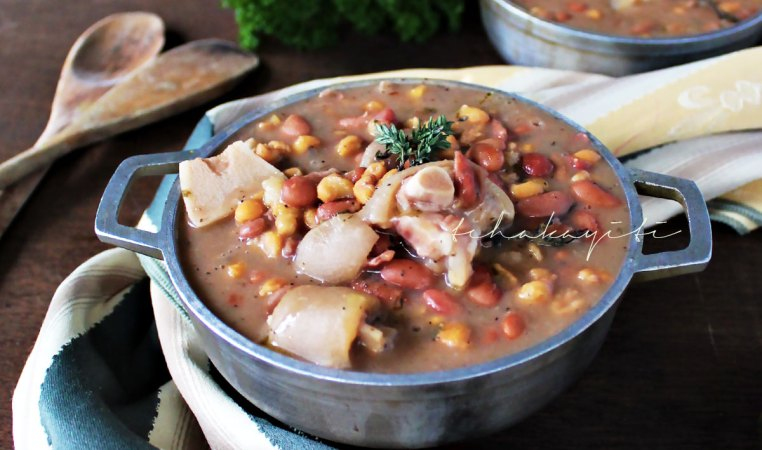 Tchaka is a traditional Haitian red beans and corn casserole enhanced with smoked salt-cured pork meat.   tchakayiti.com