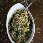 Pitimi makes a deliciously light and fluffy tabbouleh style millet salad. I encourage you to try this easy recipe. | tchakayiti.com