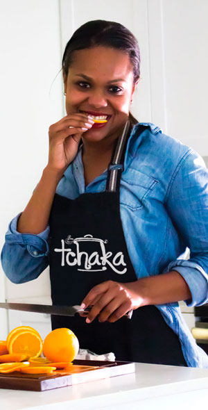 Annick Mégie is the food blogger, photographer, recipe developer behind the bilingual Haitian food blog Tchakayiti