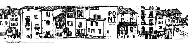Carte postale panoramique Pont-en-Royans, carte postale dessin Pont-en-Royans