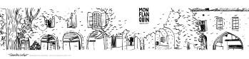 Carte postale panoramique Monflanquin