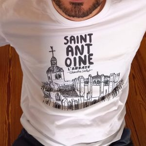 T-shirt de caractère, T-shirt Saint-Antoine l'Abbaye, T-shirt made in France, T-shirt coton bio