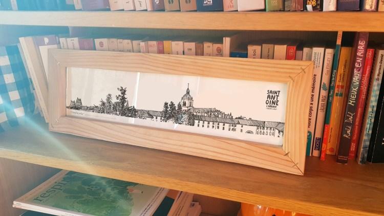 Dessin panoramique Saint-Antoine l'Abbaye avec cadre