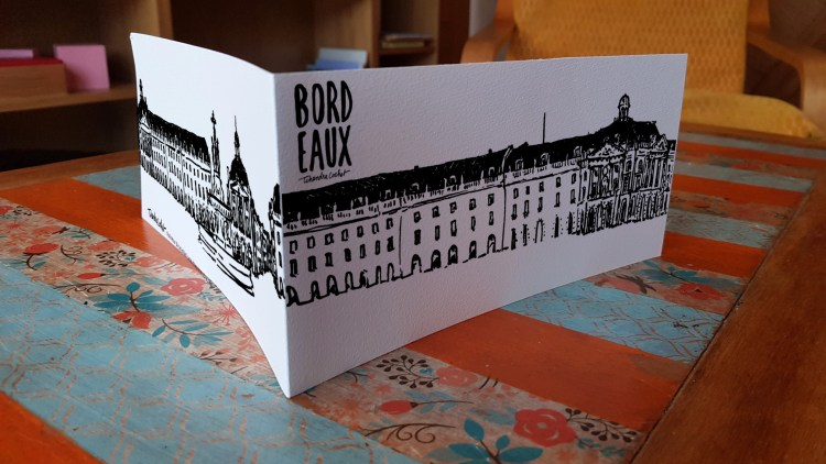 Carte postale panoramique créateur Bordeaux