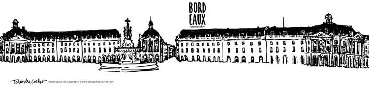 Carte postale panoramique Bordeaux, Place de la Bourse