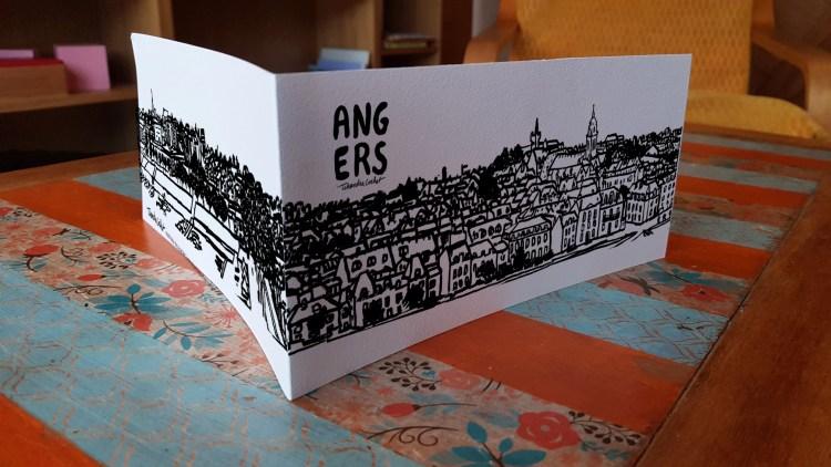 Carte postale dessin, carte postale créateur la Doutre Angers