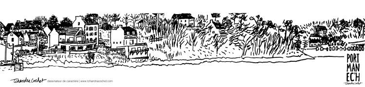 Carte postale panoramique Port-Manec'h