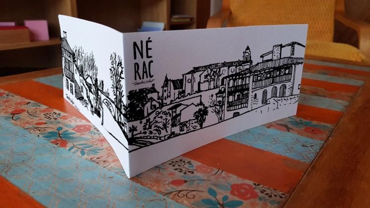 Carte postale panoramique Nérac