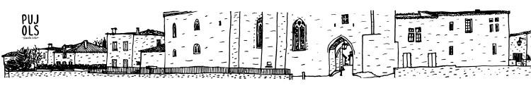 Affiche panoramique dessin original Pujols