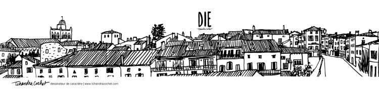 Carte panoramique Die