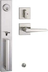 TMC Full Plate Modern Door Handleset with Deadbolt for all Exterior Doors