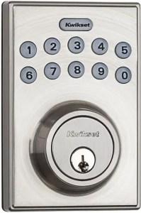 Kwikset 92640-001 Electronic High-Security Deadbolt Lock for Front Door - Best Wireless Deadbolt Lock