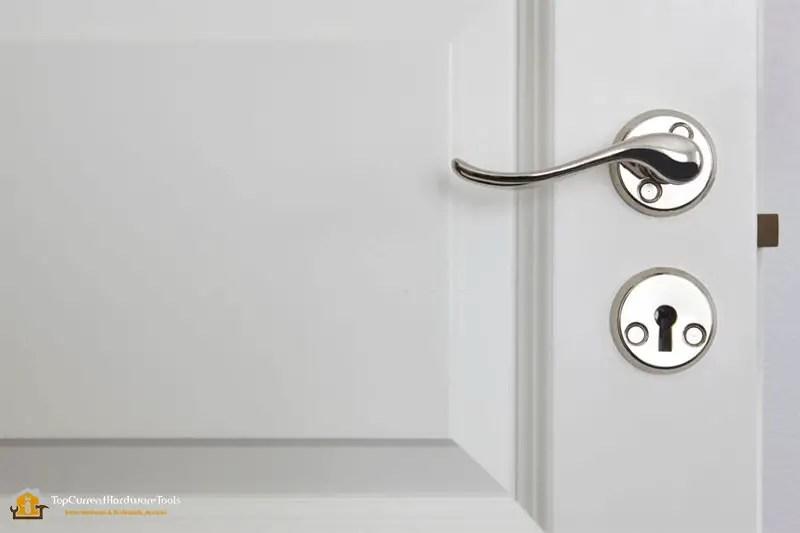 Best Metallic door handle on a classic white door
