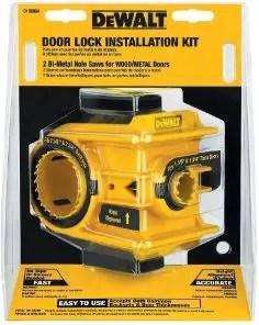 best dewalt door lock installation kit for metal or wood doors