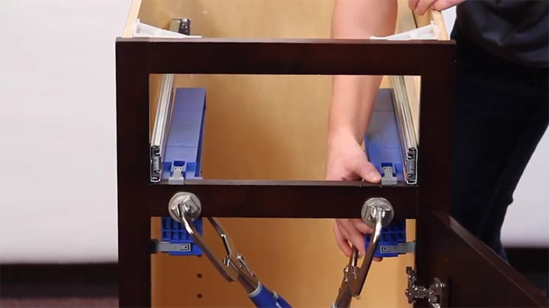 how to install side mount soft close drawer slides