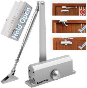 Onarway Automatic Screen Door Closer with Hold Open - Best for Residential Use