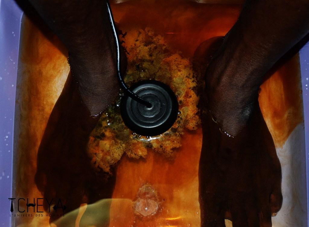 Toxines évacuées par le bain de pied detox