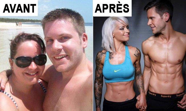 Transformation physique d'un couple fiancé
