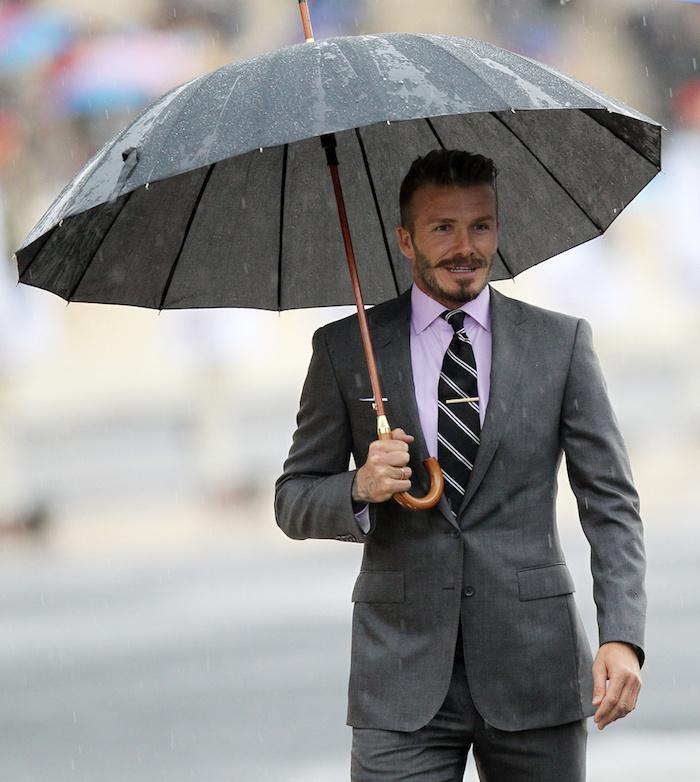 David Beckham en costume Classique