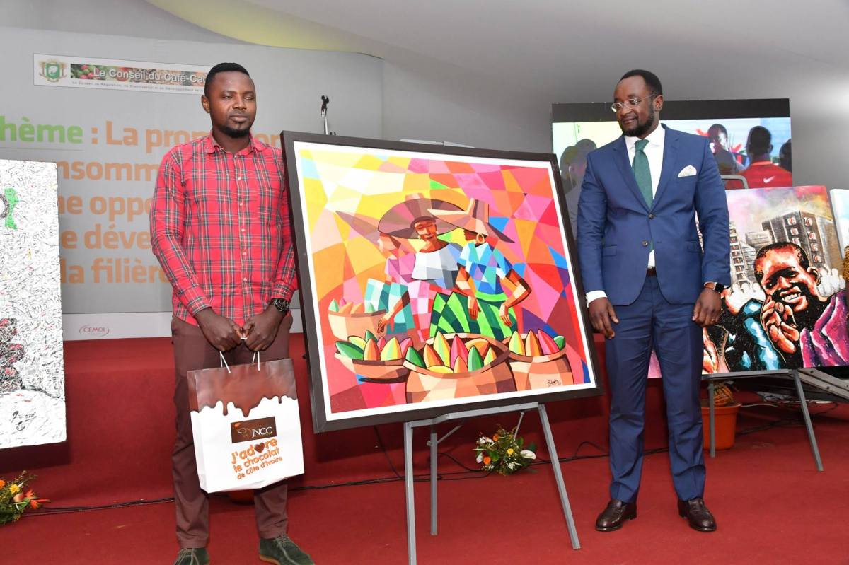 M. Kouassi Albéric Carmel, 2e prix Toile Cacao