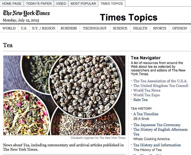 The New York Times does tea!