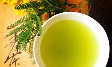 A beautiful moment with Japanese green tea