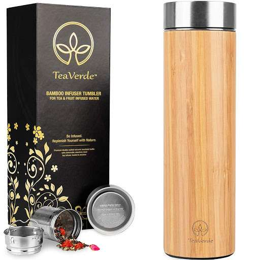 #2 Bamboo Tea Tumbler with Stainless Steel Tea Infuser – $24.50