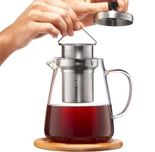 #3 Glass Teapot Kettle with Infuser – $32.99