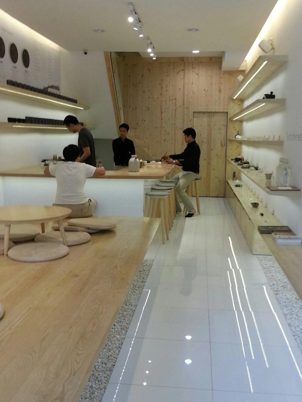 The inside of The Peace Oriental Tea Shop