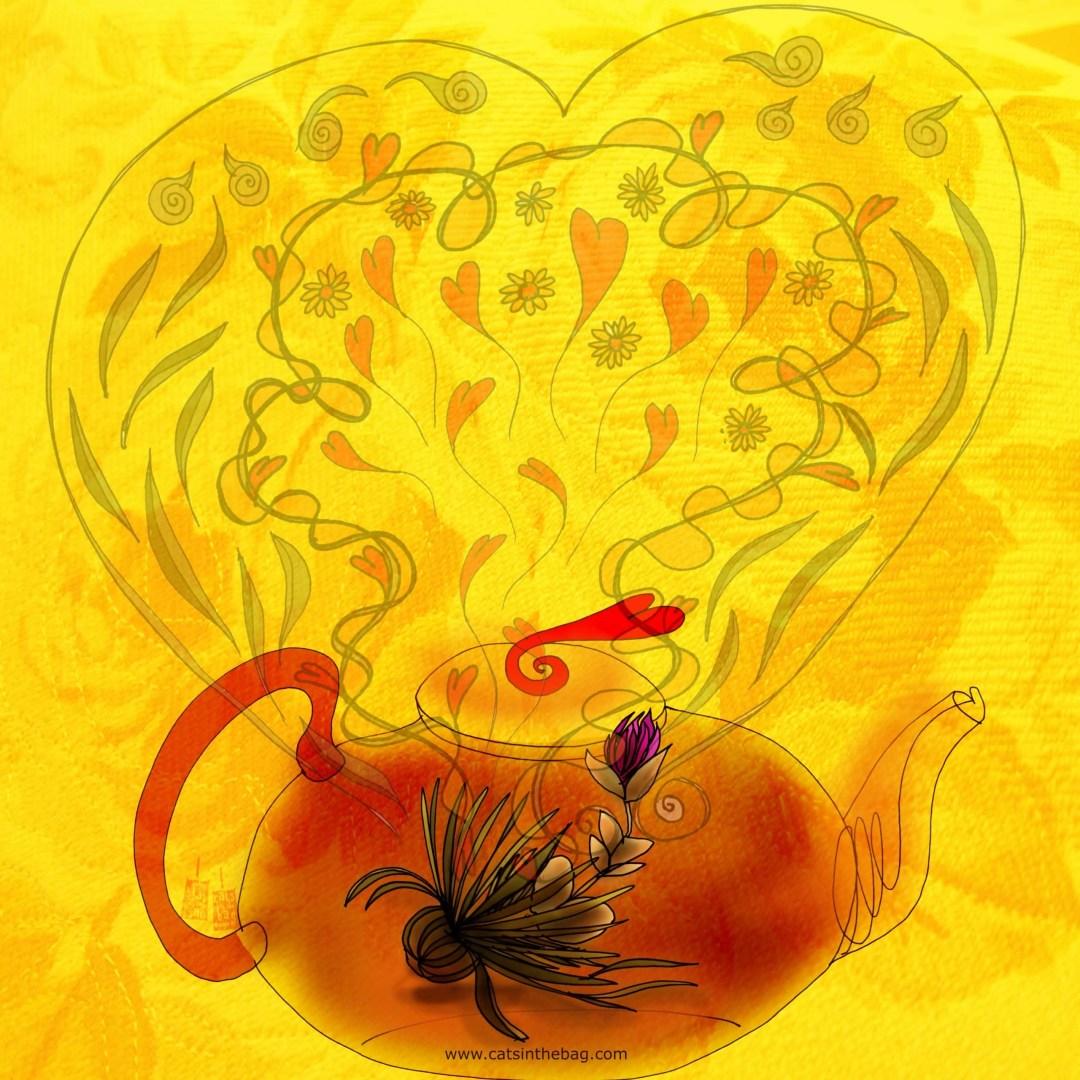 What My Tea Says to Me: Spring Tea illustration